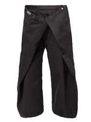 Anrealage Oversized Cropped Trousers Black