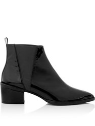Whistles Belmont Pointed Patent Ankle Boots Black