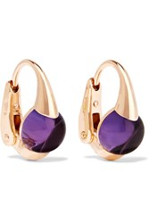 Pomellato M'ama Non M'ama 18 Karat Rose Gold Amethyst Earrings One Size
