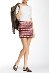 Bb Dakota Drina Faux Leather Trim Mini Skirt Multi