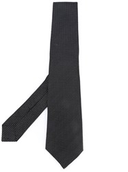 Kiton Dots Pattern Tie Men Silk One Size Black