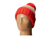 Kate Spade Chunky Knit Color Block Beanie Persimmon Grove Beanies Red
