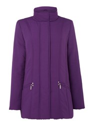 Tigi Quilted Coat Purple