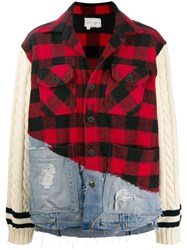 Greg Lauren Vintage Check Contrast Jacket 60