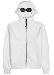 C.P. Company Goggle White Hooded Cotton Sweatshirt