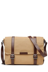 Marc By Marc Jacobs Cotton Messenger Bag With Leather Camel