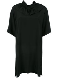Marni Ruffle Collar Shift Dress Black