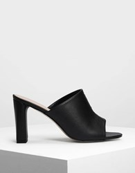 Charles And Keith Block Heel Mules Black