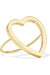 Jennifer Meyer Open Heart 18 Karat Gold Ring 6