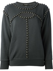 Isabel Marant Studded Sweatshirt Grey