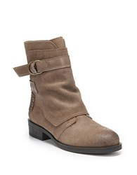 Fergie Neptune Leather Ankle Boots Taupe