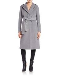 Marella Wool And Cashmere Long Coat Grey