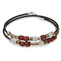 Platadepalo Classic Red And White Resin Bracelet Black White Red