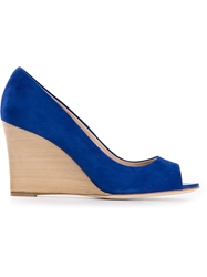Tod's Peep Toe Pumps Blue