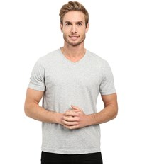 Agave Supima Vee Neck Short Sleeve Tee Heather Men's T Shirt Gray