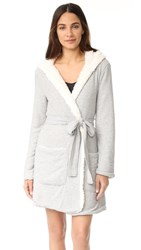 Splendid Cozy Hoody Robe Heather Grey