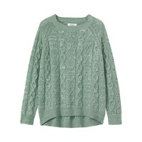 Toast Cable Knit Wool Blend Jumper Celadon Straw