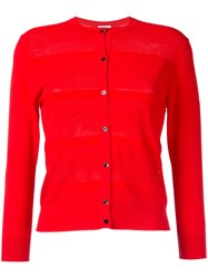 Estnation Buttoned Cardigan Women Rayon 38 Red