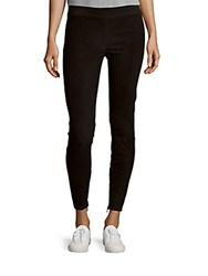 Vince Suede Ankle Zip Leggings Black
