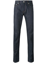 Alexander Mcqueen Classic Slim Jeans Men Cotton 50 Blue
