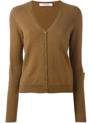 Dorothee Schumacher Buttoned V Neck Cardigan Brown