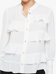 Damsel In A Dress Stansie Ruffle Blouse Ivory