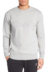 Barney Cools Crew Pullover Sweater Gray