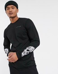 Bolongaro Trevor Skull Sleeve Long Sleeve T Shirt Black