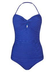 Phase Eight Waffle Swimsuit Blue