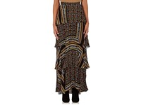 A.L.C. Women's Davis Tiered Ruffle Long Skirt Brown
