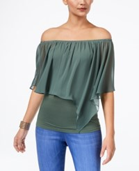 Thalia Sodi Convertible Off The Shoulder Top Blooming Cactus