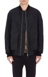 Helmut Lang Men's Cotton Insulated Oversized Bomber Jacket Black