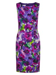 Hobbs Watercolour Dress Violet Multi