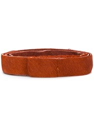 Forte Forte Front Fastened Belt Yellow And Orange