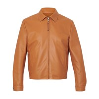 Loewe Leather Jacket With Zip Tan