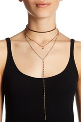 Stephan And Co Faux Leather Drop Chain Choker Green