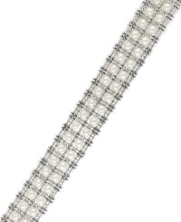 Effy Pearl Lace By Cultured Freshwater Pearl Two Row Tennis Bracelet In Sterling Silver 3 1 2Mm White