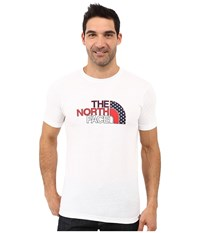 The North Face Short Sleeve Usa Tri Blend Tee Tnf White Heather Men's Clothing Gray