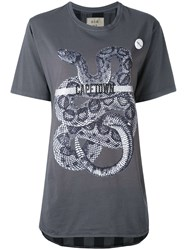 Sold Out Frvr Snake Print T Shirt Women Cotton S Grey