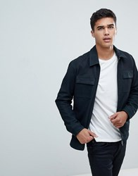 Selected Homme Nubuck Premium Leather Jacket Dark Navy