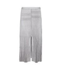 Proenza Schouler Wool Blend Ribbed Midi Skirt White