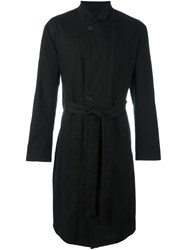 Ann Demeulemeester Buttoned Belted Coat Black