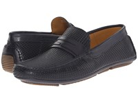 Aquatalia By Marvin K Bruce Navy Woven Calf Men's Slip On Shoes Brown