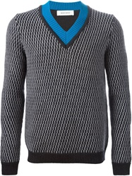 Mauro Grifoni V Neck Sweater Grey