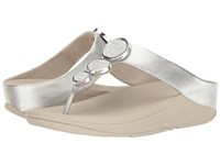 Fitflop Halo Toe Thong Sandals Silver Women's Shoes