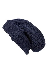 Women's Treasure And Bond Chunky Cuffed Beanie Blue Navy Indigo