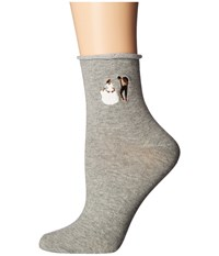 Richer Poorer Dancer Ankle Heather Grey Women's Crew Cut Socks Shoes Gray