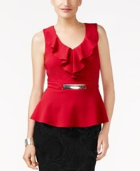 Thalia Sodi Hardware Detail Peplum Top Only At Macy's Juicy Pomegranate