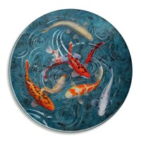 Avenida Home Graham Banister A Pond Of Koi Fish Glass Platter