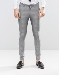 Asos Super Skinny Suit Trousers In Grey Ombre Gray